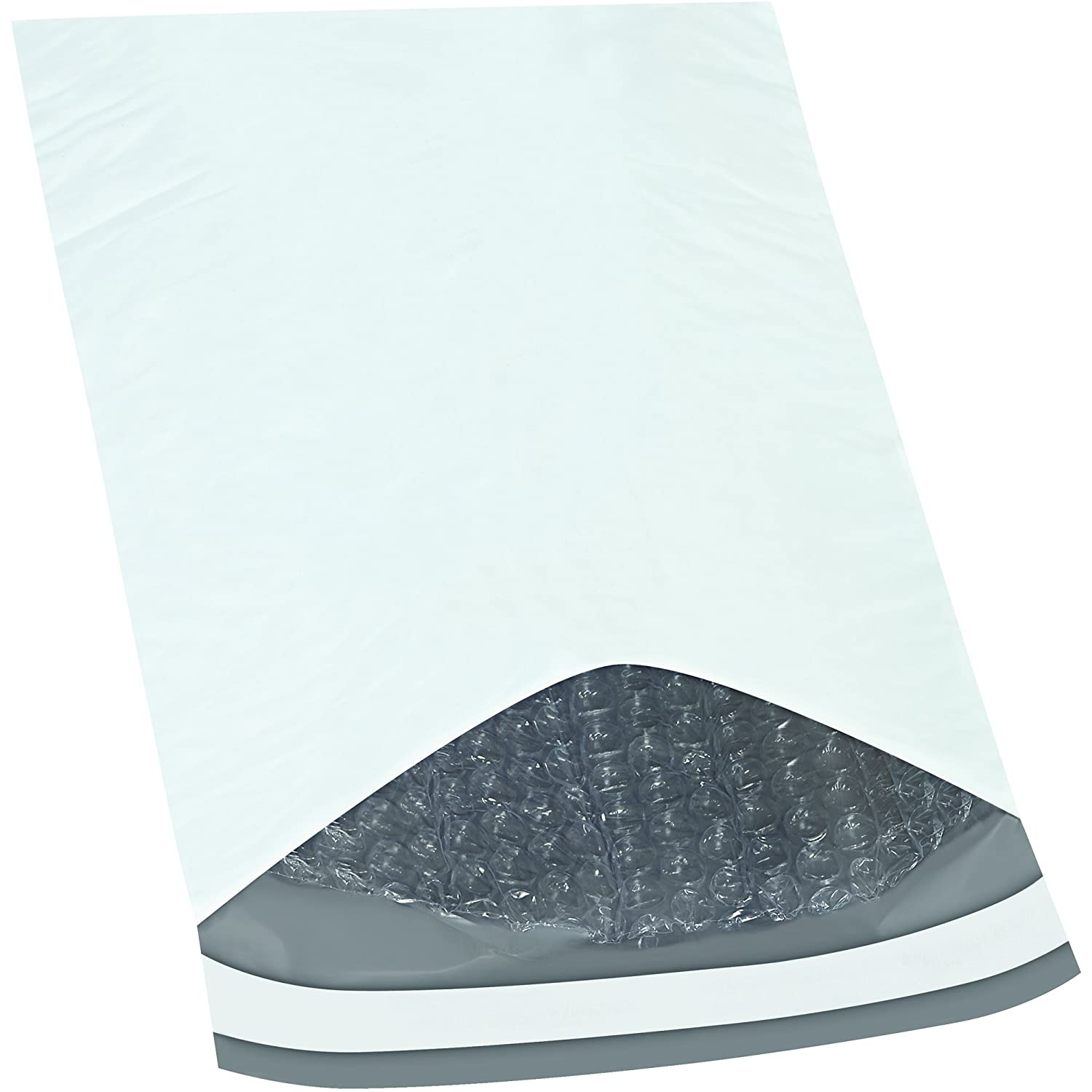 Tape Logic Bubble Lined Poly Mailers 7 1 4 x 8 7.25 Width 8 Length White Pack of 200