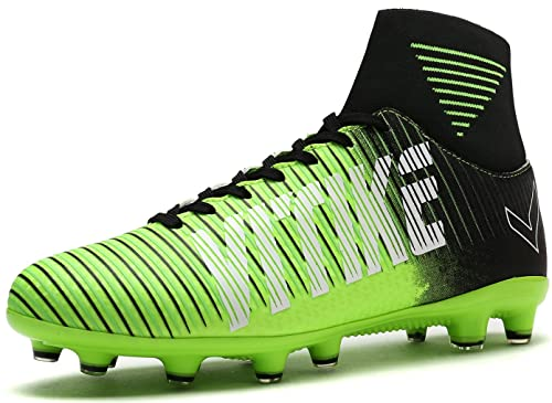 hot sale online f0c1f 4e724 VITIKE Kids Soccer Cleats Shoes Boys Youth Cleats Football Boots High-top  Cleats for Soccer  Amazon.co.uk  Shoes   Bags
