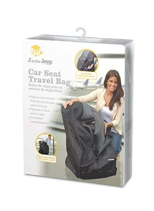 Jeep Car Seat Travel Bag Universal Size Cover Fits All Seats Shoulder Strap Included For Airport Gate Check In Infant And Baby Carrier
