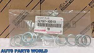 Toyota Oil Drain Plug Crushable Steel Gaskets Set of 10 OEM 12157-10010