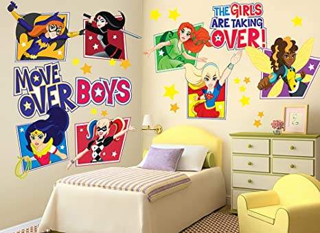 Amazon DC Super Hero Girls Large Wall Decal Set Home Kitchen