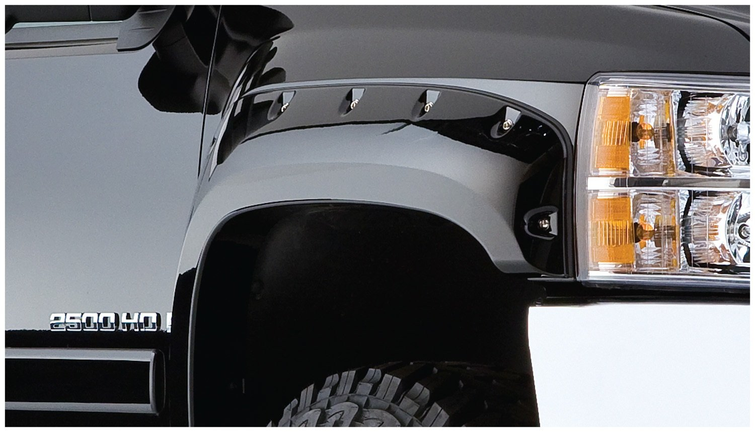 Bushwacker 40924-02 Chevrolet Pocket Style Fender Flare Set of 4