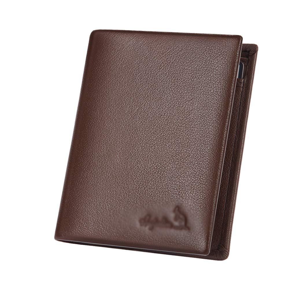 A1//Black Wallet Mens Short Leather Wallet Wallet Card