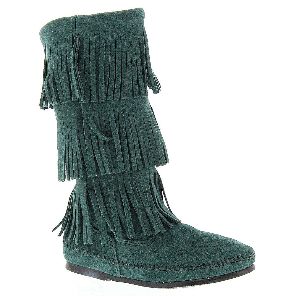 Minnetonka Women's 3-Layer Fringe Boot B00U6ZQW3I 6 B(M) US|Pine Suede