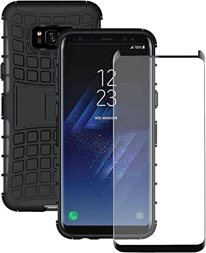 Coque Samsung Galaxy S8 Plus Olixar ArmourDillo Ultra Robuste Verre Trempé 9H Compatible – Verre Incurvé – Coque indestructible – Armure protectrice ...