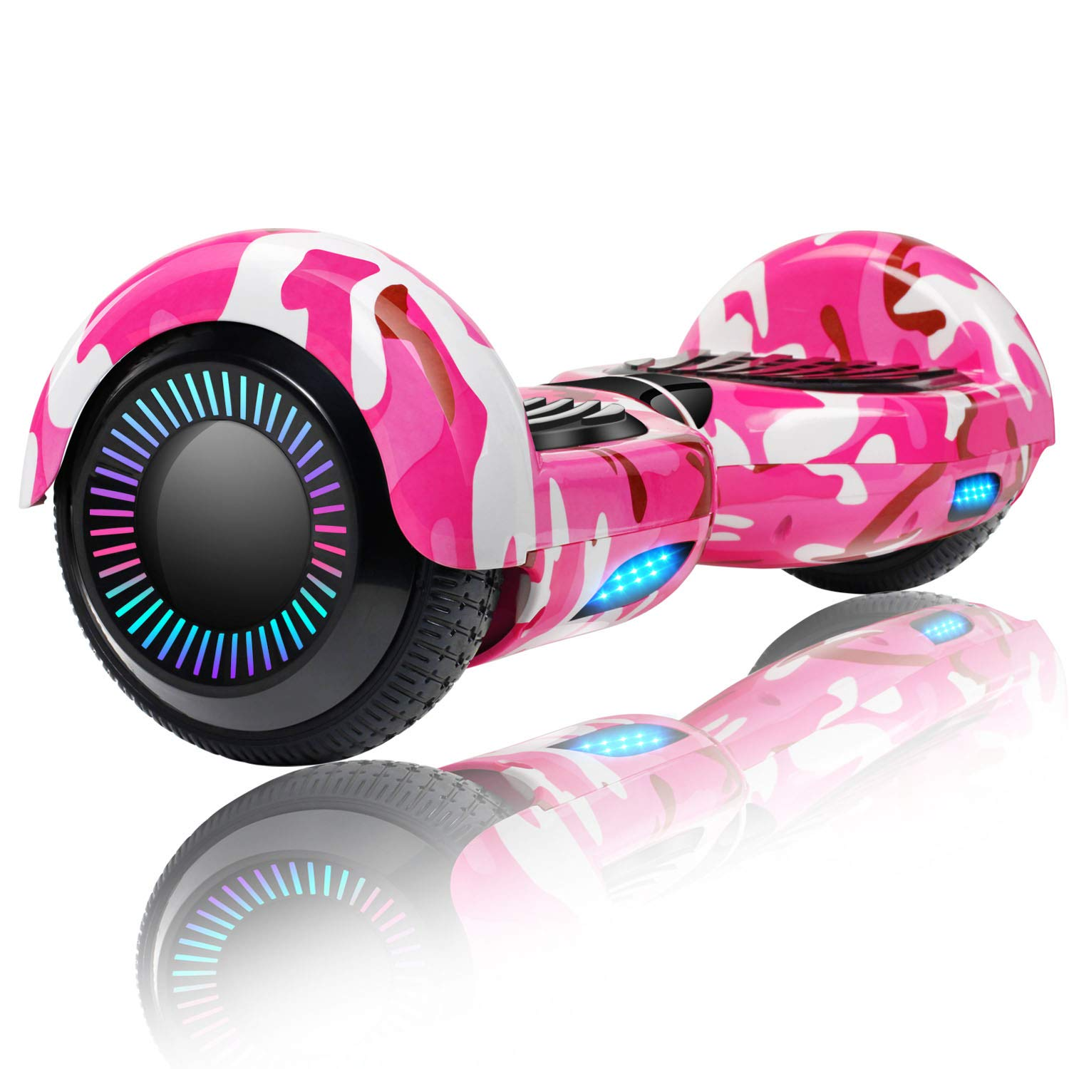 Keepower 6.5'' Hoverboard Electric Smart Self Balancing Scooter Hoverboard Built-in LED Wheels Side Lights- UL2272 Certified