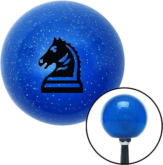 Black Knight Horse American Shifter 26841 Blue Metal Flake Shift Knob