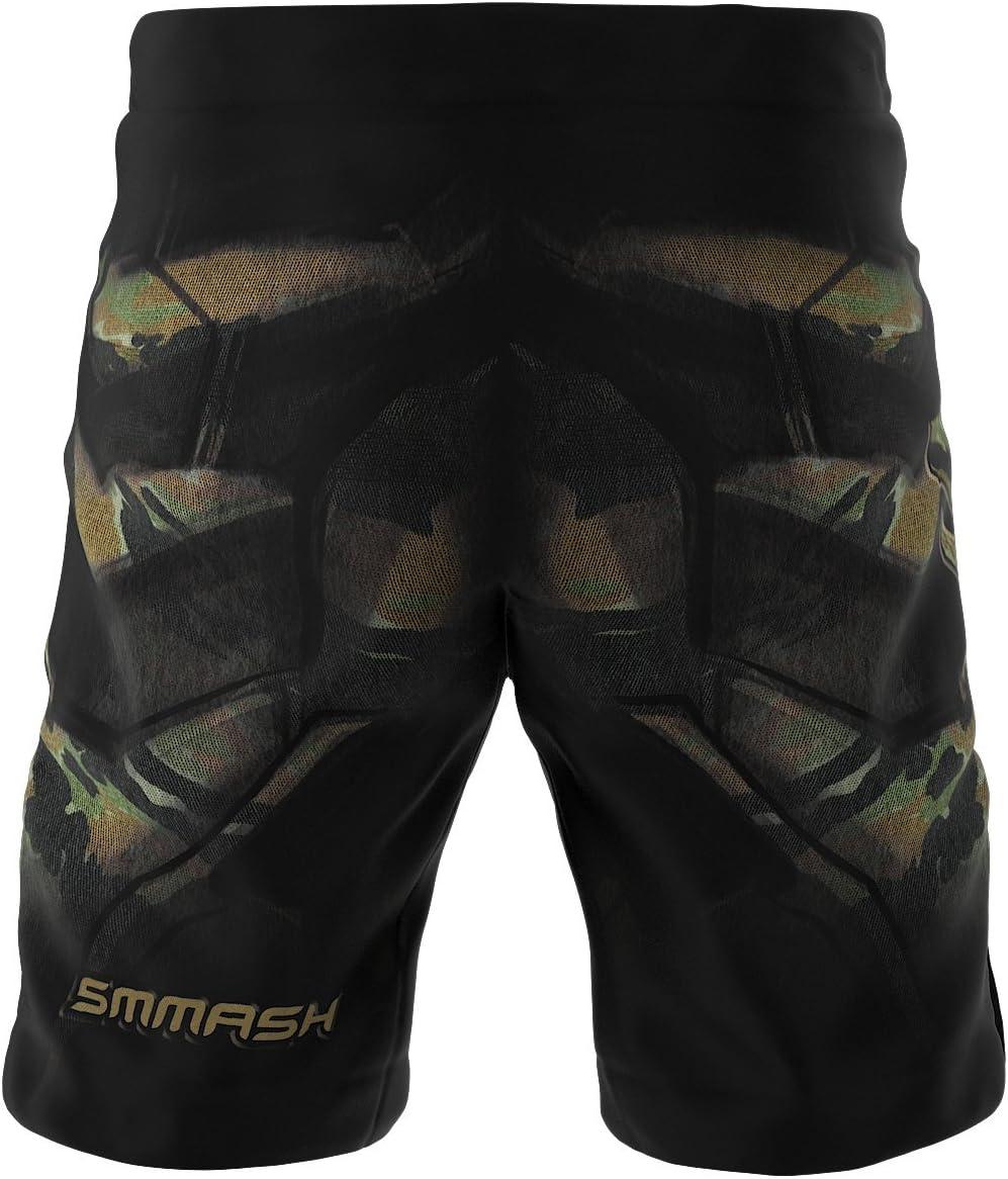 Sport Trainingshose Herren mit Klettverschluss SMMASH X-WEAR MMA Shorts Herren Krav MAGA,Kickbox Trainingsshorts f/ür Boxen Thaiboxen Kampfsport Kurze Hosen Kurz Sporthose