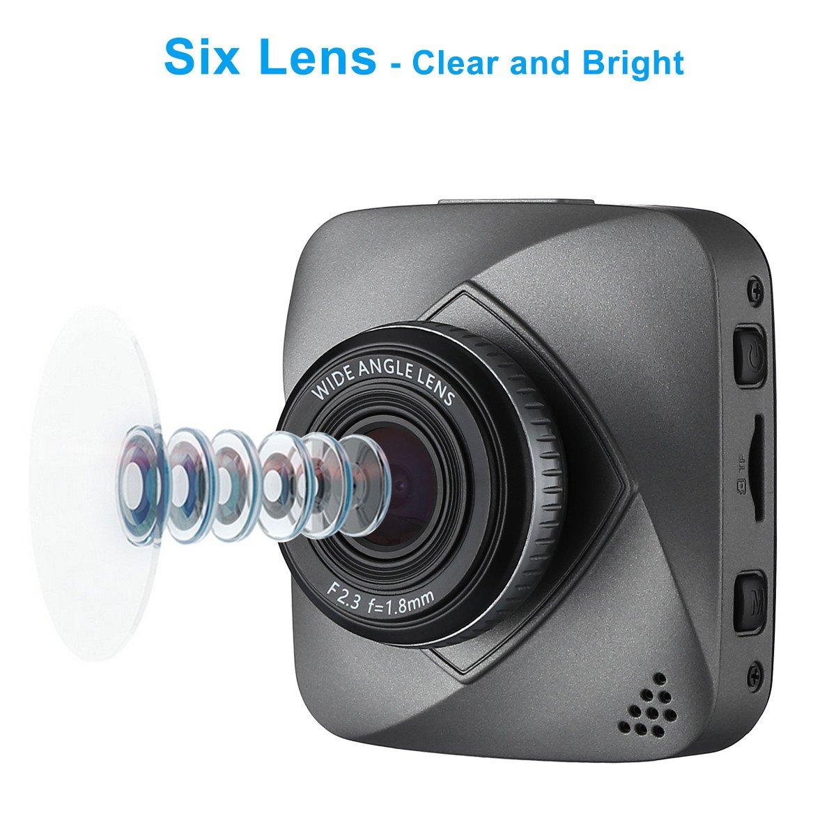 isYoung Petite caméra embarquée de voiture HD de 720 pixels, DashCam DVR avec enregistreur de vidéo en boucle, angle de prise de vue de 120 degrés