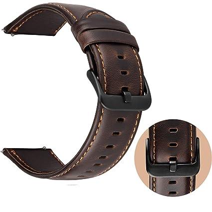 Correa Reloj 22mm Cuero para Samsung Galaxy Watch 46mm / Gear S3 Frontier / Gear S3 Classic, ...