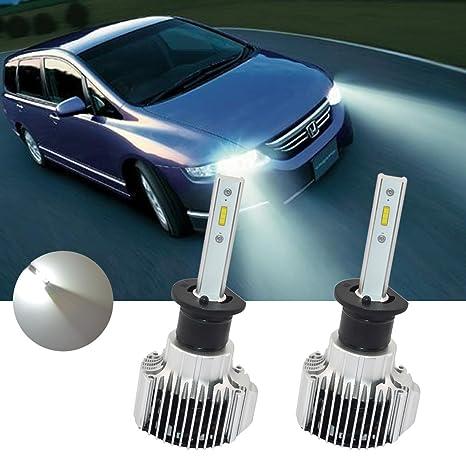 tuincyn H4 Super brillante faro bombillas LED con tapa Chips 2pcs-led 8000 lúmenes blanco