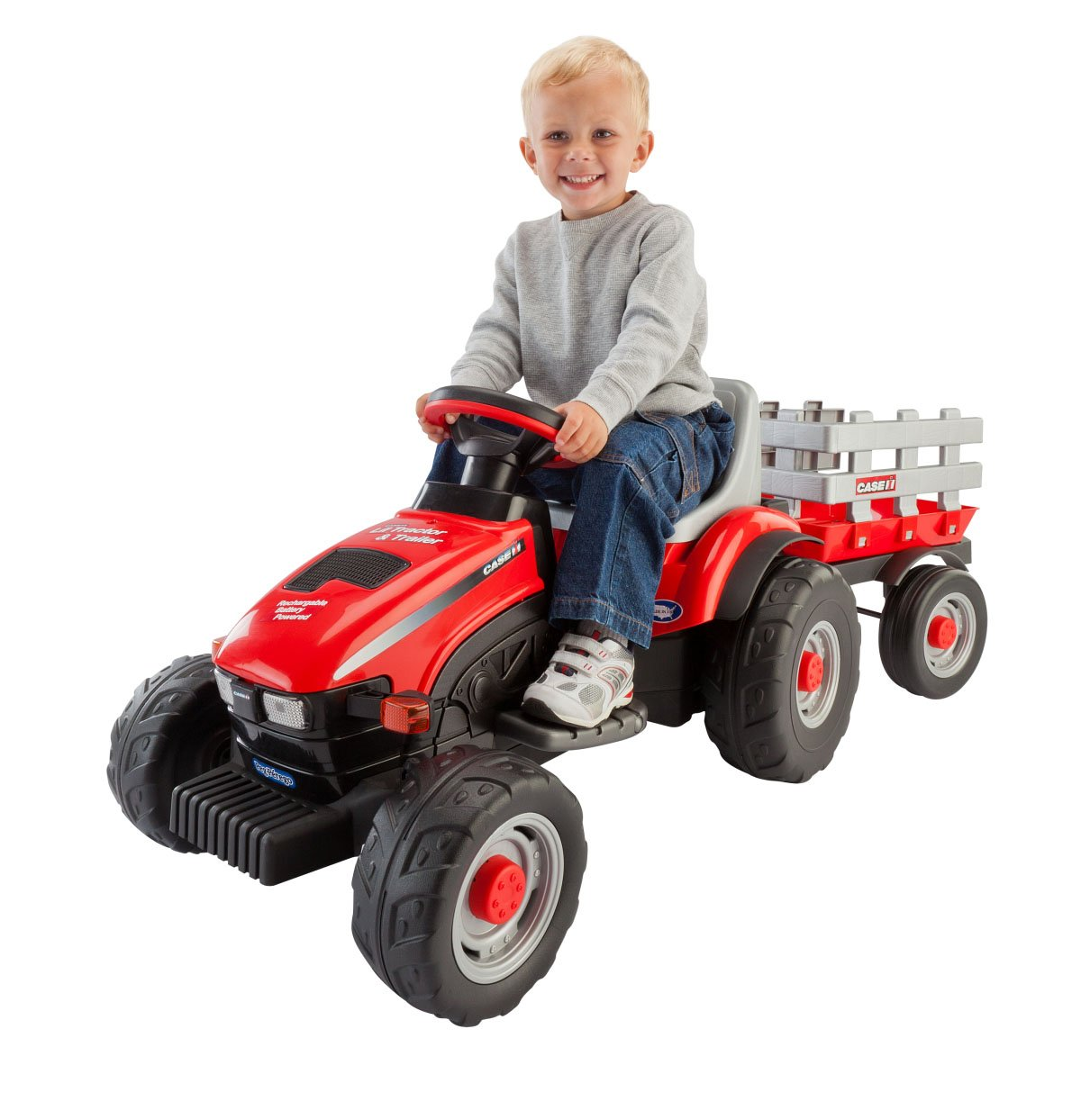 Peg Perego Case IH Little Tractor and Trailer