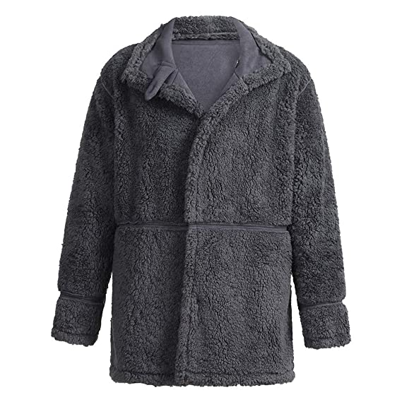 Amazon.com: Men Winter Warm Jacket Wool Lined,Vanvler Male Sheepskin Faux Lamb Coat Mountain Thicken Outwear Fashion: Clothing