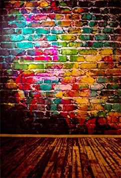 New Graffiti Wall Wood Floor Backdrops for 80s 90s Party 7x5ft Street Culture Style Photography Background Photo Booth Studio Props 771