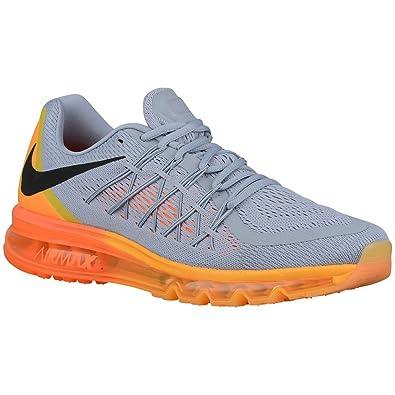 Nike Men's Air Max 2015 Wolf Grey/Total Orange/Laser Orange/Black Mesh