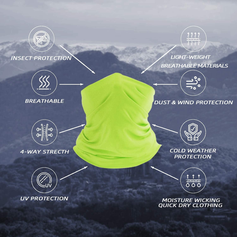 softan Bandana Face Mouth Covering Breathable Headbands Scarf Seamless Balaclavas for Hot Summer Outdoors,10PCS