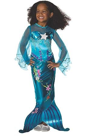 Disfraz de Sirenita - Sirena - Azul - Talla 140 (8-10 años ...