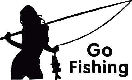5a3d2283563ef3 Country Life SEXY GIRL HOLDING FISHING POLE GO FISHING CAR TRUCK DECAL  STICKER WITH