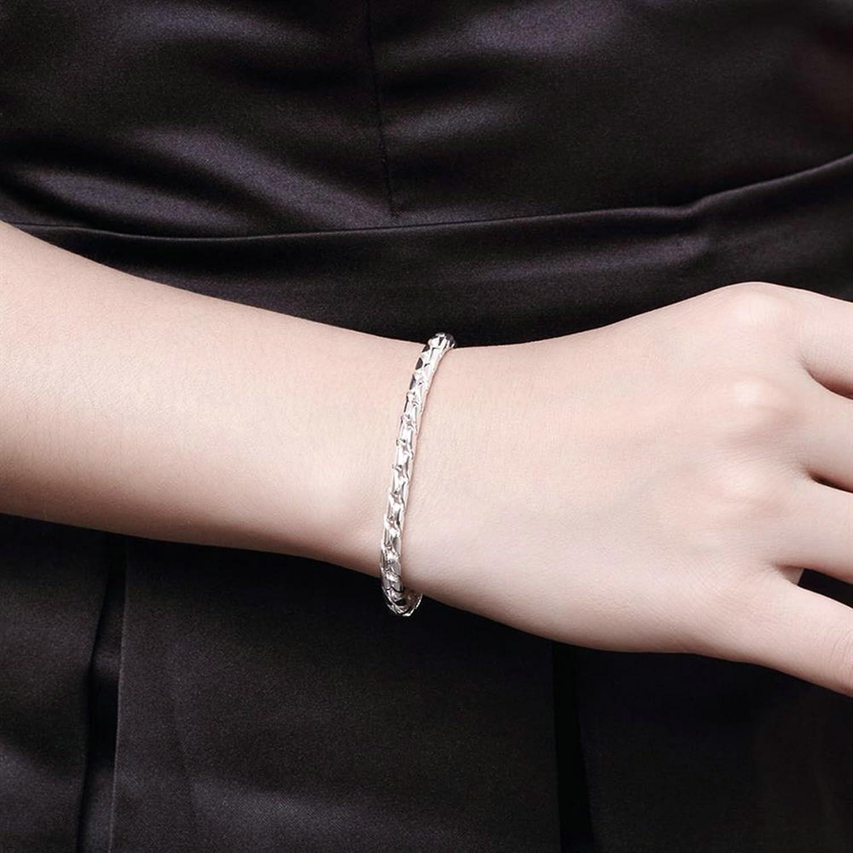 Aokarry Link Bracelet,Wedding Bracelet Bangle Copper Rope Chain n Silver Length 8 in