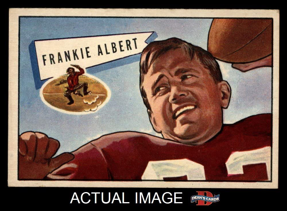 1952 Bowman Large # 5 Frankie Albert San Francisco 49ers (Football Card) Dean's Cards 6 - EX/MT 49ers Stanford 71D3w7ZUlQLSL1000_