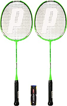 Prince 2 x Power Ti 75 Badminton Raqueta Varias Opciones 6 Volantes