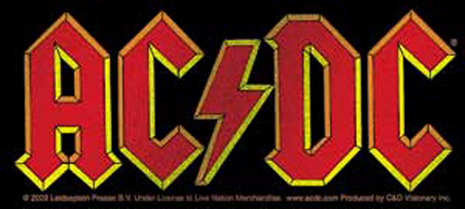 Ac Dc Glitter Shine Logo Sticker Officially Licensed Products Classic Rock Artwork 2 4 X 5 Long Lasting Sticker Erdecal Auto