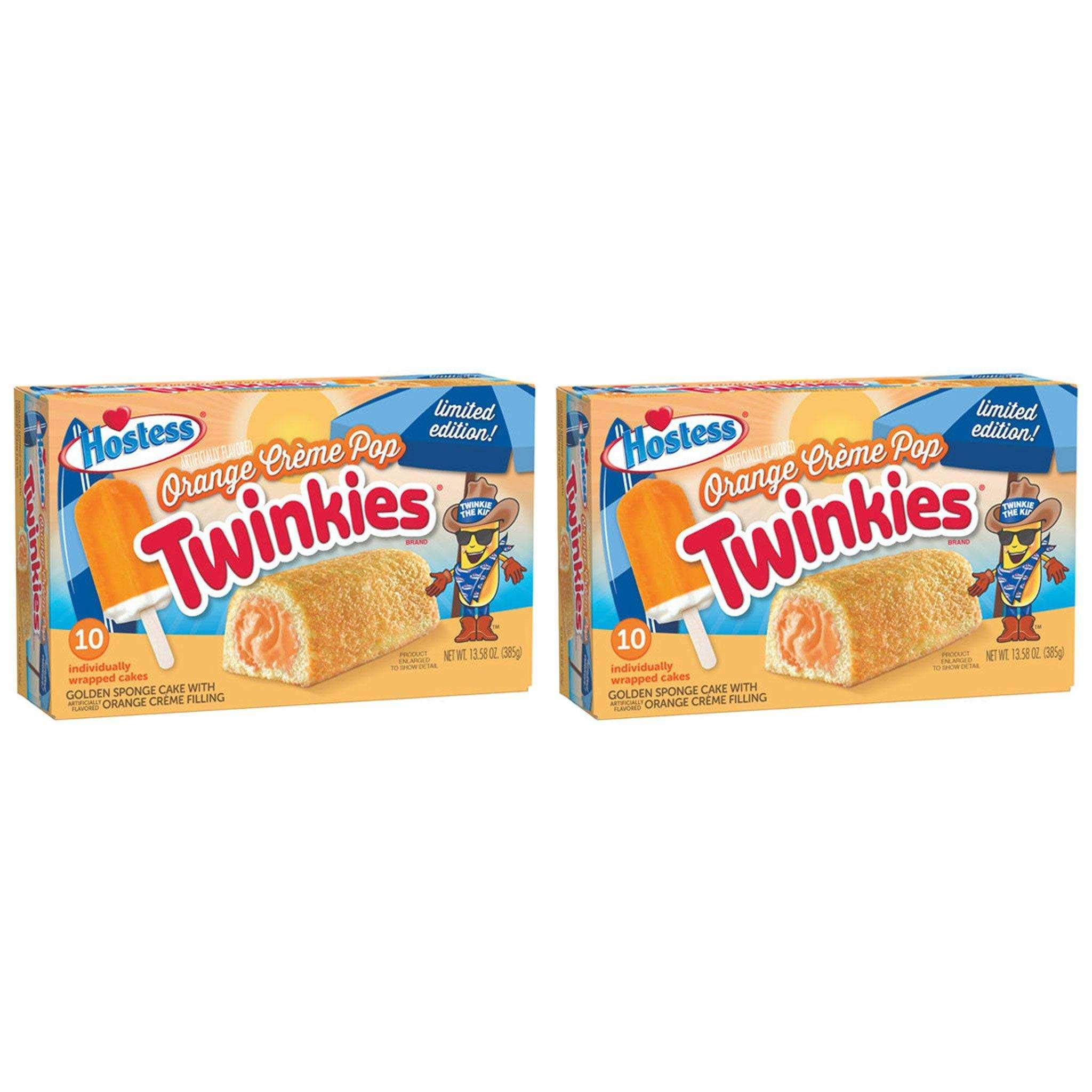 Twinkies Orange Creme Pop by Hostess, Limited Edition (Pack of 2) by Generic