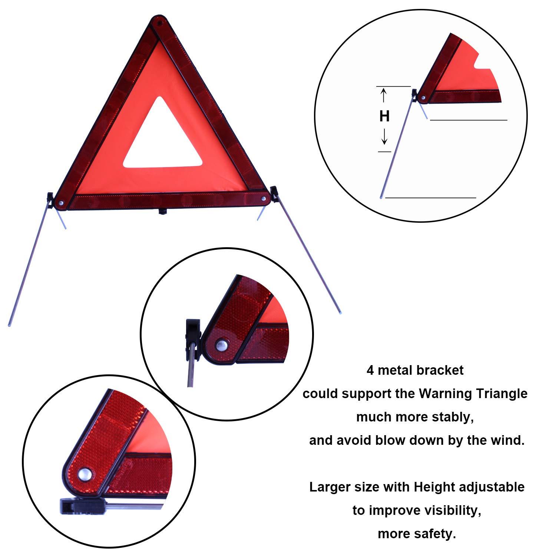 OKVGO 15 Piece Car Euro Travel Kit for European Driving Abroad Breakdown Safety Emergency Tool Set