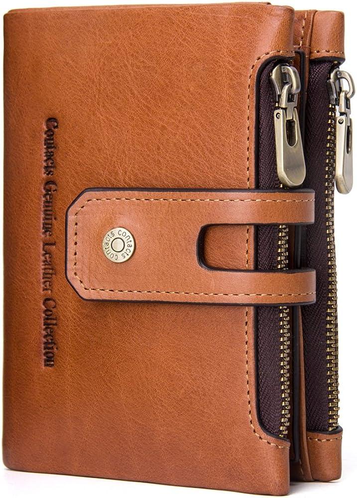 9e2ebf80594c5c [コンタクトズ] Contacts レザー ウォレット 本革 二つ折り財布 隠しポケット付き カード