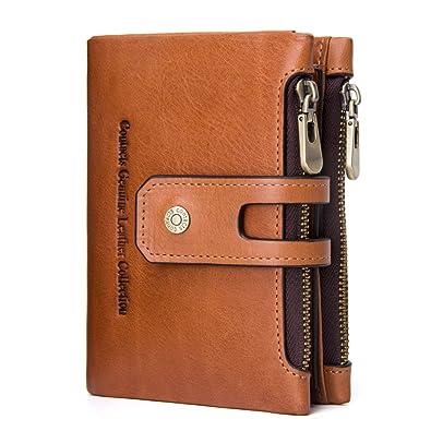 9cbe89d2155e [コンタクトズ] Contacts レザー ウォレット 本革 二つ折り財布 隠しポケット付き カード
