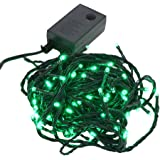 【グリーン】イルミネーション LED ライト クリスマスライト 屋外 屋内 100球 点灯パターン記憶メモリー付 連結可