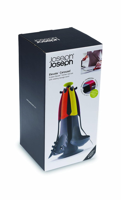 Amazon.com: Joseph Joseph 10004 Elevate Carousel Kitchen Utensil Tool Set  With Rotating Storage Stand Nylon Silicone Dishwasher Safe (old 2014  Model), ...