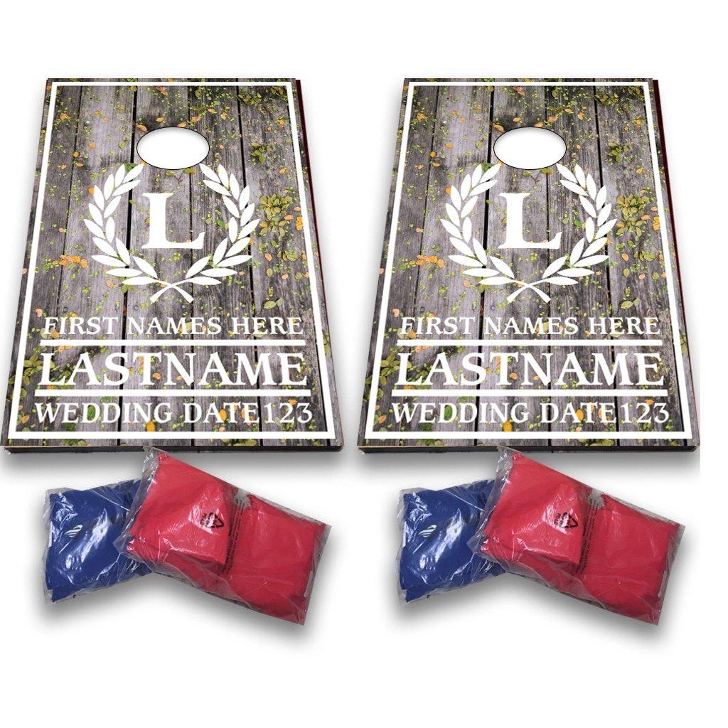 VICTORYSTORE.COM Custom Wedding Bag Toss Game – Custom Wedding Cornhole - Laurel and Initial