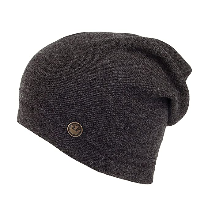48341f69ada Goorin Brothers Malibu Breeze Merino Wool Beanie Hat - Charcoal Charcoal  1-Size  Amazon.co.uk  Clothing