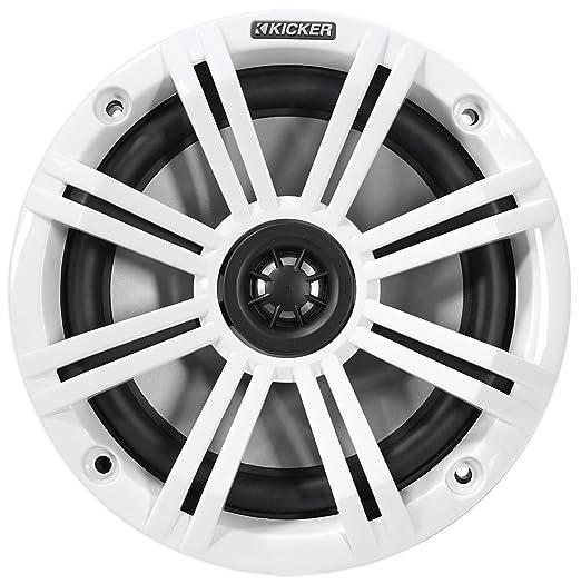 """Pair KICKER 45KM654 6.5/"""" 390 Watt Silver Marine Wakeboard Tower Boat Speakers"""