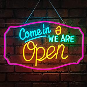 Open Neon Sign LED Signs Neon Lights, LED Open Sign, 3D Art Decorative Neon Signs for Business, Shop, Bar, Restaurant, Parties, Home, Salon
