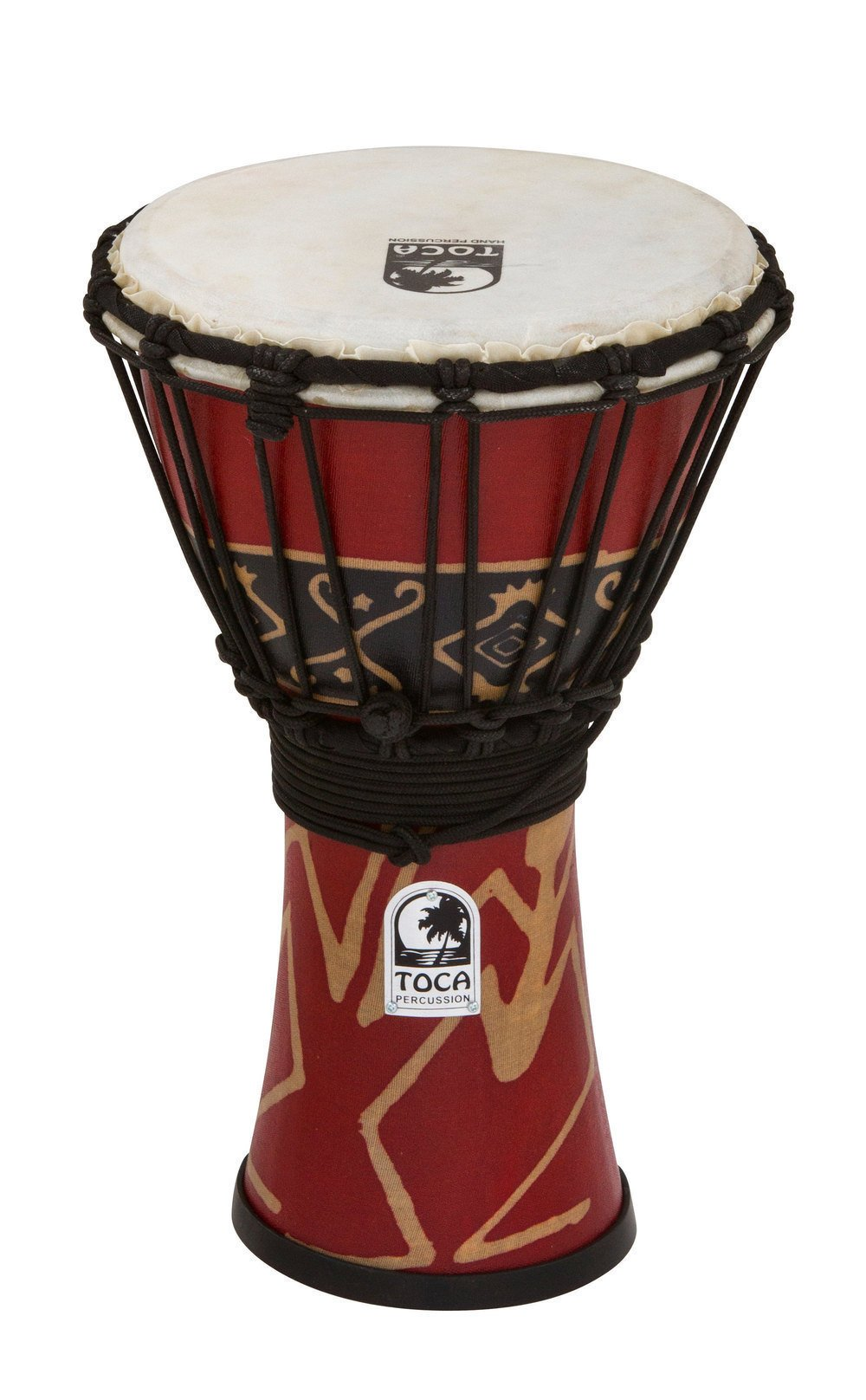Toca SFDJ-7RP Freestyle Rope Tuned 7-Inch Djembe - Bali Red Finish