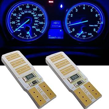 wljh Pack 2 Bombillas LED de T10 194 2825 168 Canbus Libre De Errores COB Chip