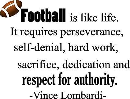 Success Epic Designs Vince Lombardi Football Is Like Life It Requires Perseverance Selfdenial Amazoncom Amazoncom Epic Designs Vince Lombardi Football Is Like Life It