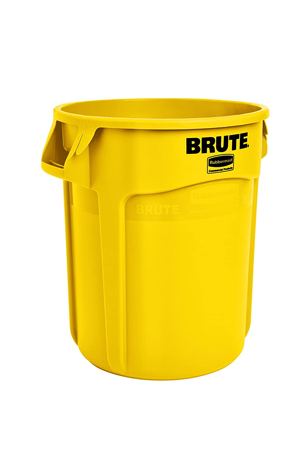 Rubbermaid Commercial FG262000YEL BRUTE Heavy-Duty Round Waste/Utility Container, 20-gallon, Yellow