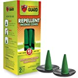 Mosquito Guard Mosquito Repellent Incense Cones (45 Cones) Made with Plant Based Ingredients: Citronella Oil, Lemongrass & Ro