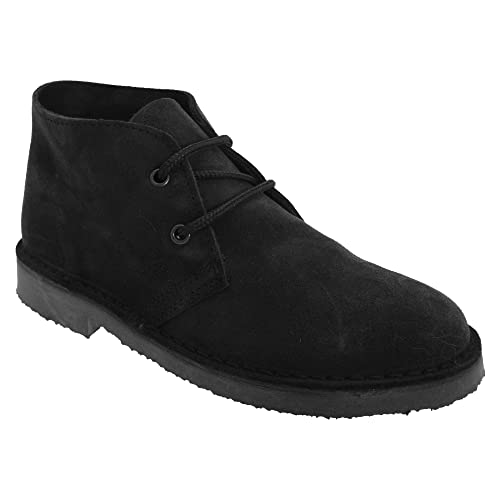 bc4defd10e3 Roamers Adults Unisex Real Suede Unlined Desert Boots