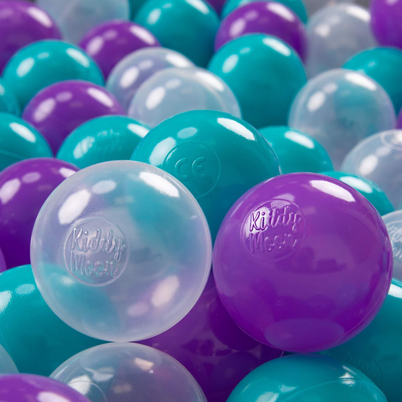 Blanco Gris Plateado KiddyMoon 100 /∅ 7Cm Bolas Colores De Pl/ástico para Piscina Certificadas para Ni/ños