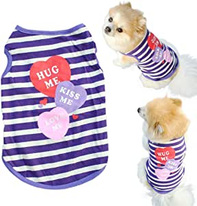 Mosunx(TM) Fashion Pet Puppy Summer Shirt Small Dog Cat Pet Clothes Stripe Vest T Shirt (XS) by Mosunx