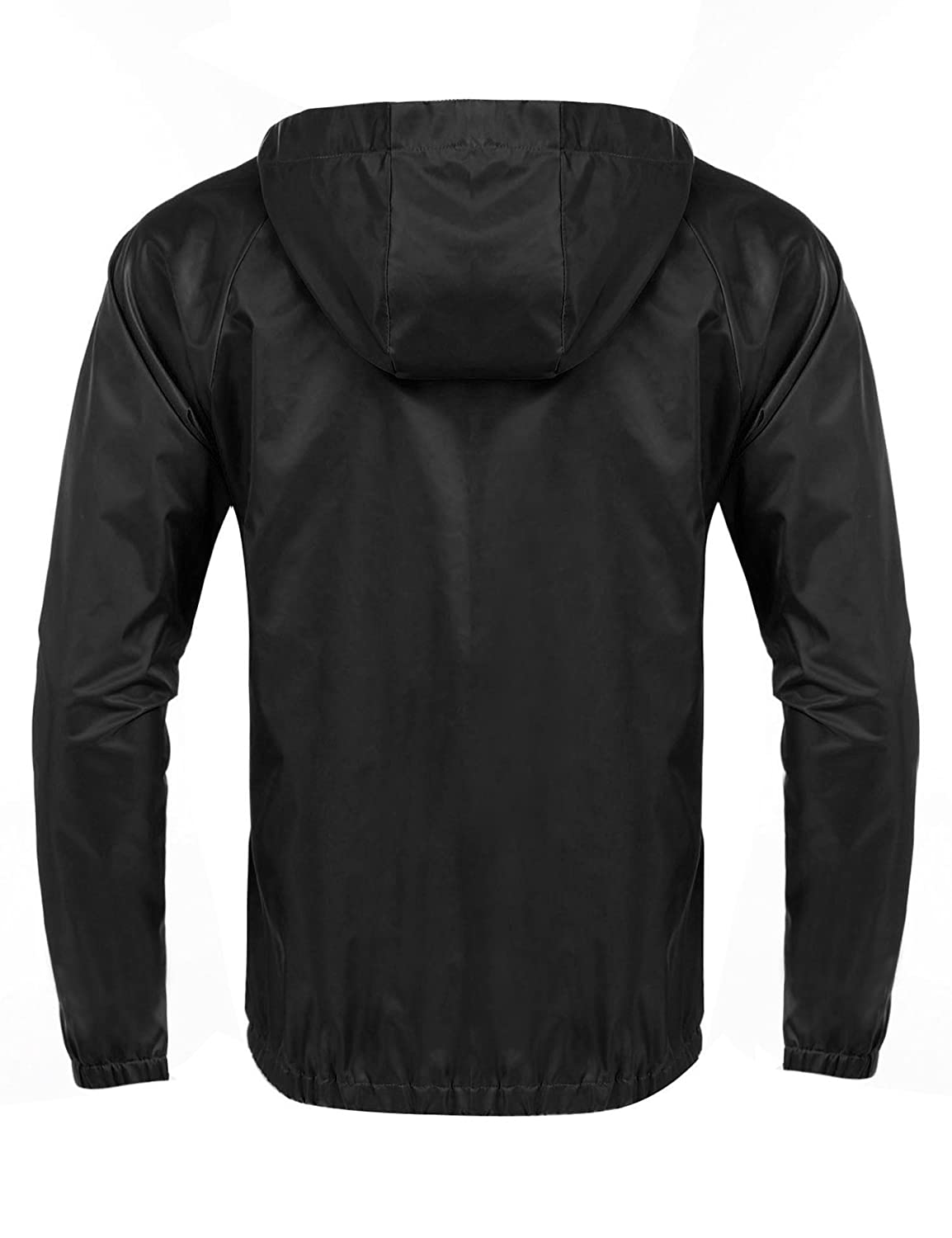 COOFANDY Mens Packable Rain Jacket Classic Cycling Waterproof Raincoat