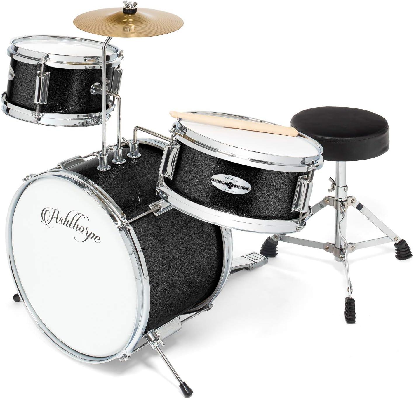 Ashthorpe 3-Piece Complete Kid's Junior Drum Set