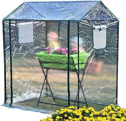 QXX Invernadero doméstico, flor pequeña, cobertizo, plástico, anticongelante, aislamiento, invierno, balcón, jardín, planta, flor, estante, refugio, 125x85x150cm: Amazon.es: Coche y moto