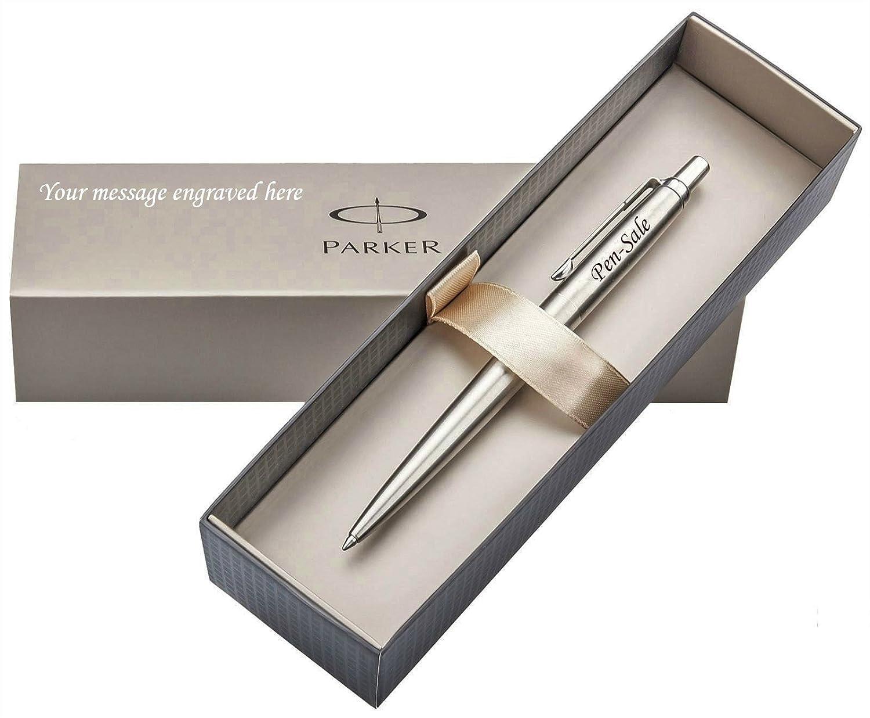 Personalised Engraved Parker Jotter Black Ballpoint Pen FREE BOX ENGRAVING