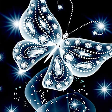 B/är Schl/üsselanh/änger, 4 Teile// 5x7cm Fu/ßball Feuer 30x40cm 5D Diamant Stickerei Full Drill Phantom Schmetterlinge DIY Dekoration Malerei Kreuzstich Kit Sunnay Diamond Painting