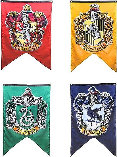 Amazon.com: Banderas de pared de Harry Potter Hogwarts para ...